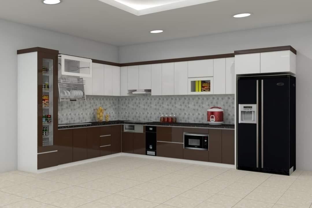 Tủ bếp Sồi Nga chữ I