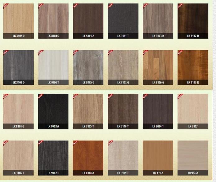 Bề mặt tủ bếp Lainate vân gỗ